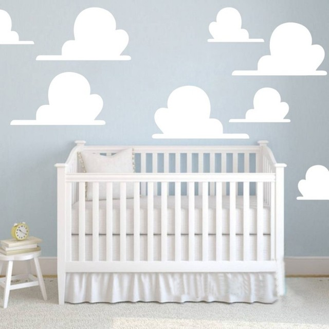 Clouds Toy Story Inspired Wall Sticker 10pcs Set Great For Nursery Or Childrens Bedroom Home