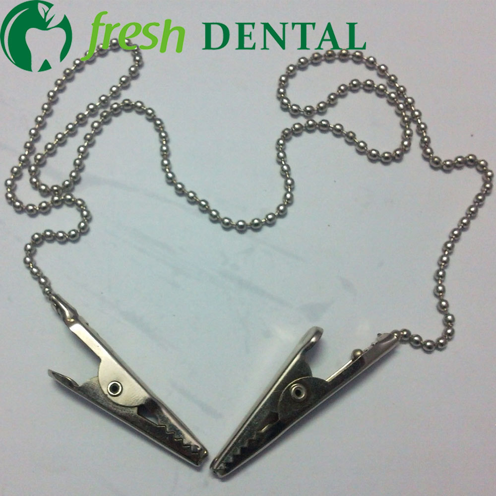 500PCS dental bib clip Made of Bead Chain Like Pearl Necklace 385mm Divided pakcage Dental consumables