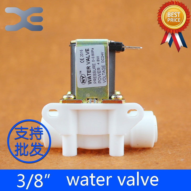 3/8 Push Fit Water Valve 24V Inlet Solenoid Valve WV-Q3 Water Purifier Accessories Valve Parts plastic toilet button drain valve inlet valve full set water tank fittings
