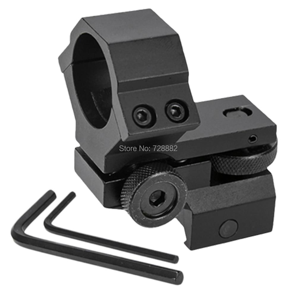 Tactical Laser Sight Flashlight Rifle 25.4mm Scope Ring Low Mount Adjustable Elevation Windage for 20mm Rail