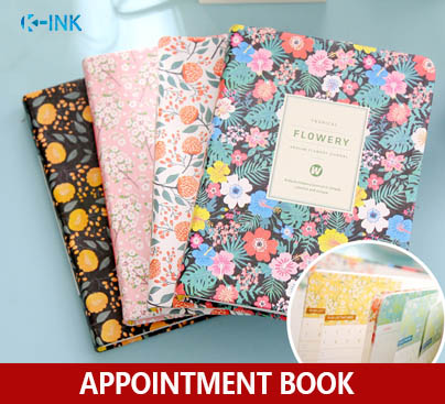 Weekly / Monthly / Yearly Planner Flower A6 Appointment