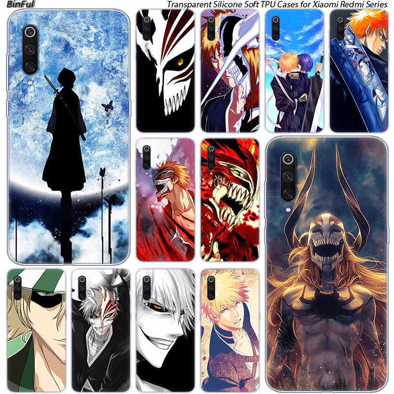 Hot Anime Bleach Silikon Case untuk Xiaomi Pocophone F1 9 T 9 9SE 8 A2 Lite A1 A2 Mix3 Redmi k20 7A Note 4 4X5 6 7 Pro S2 Cover