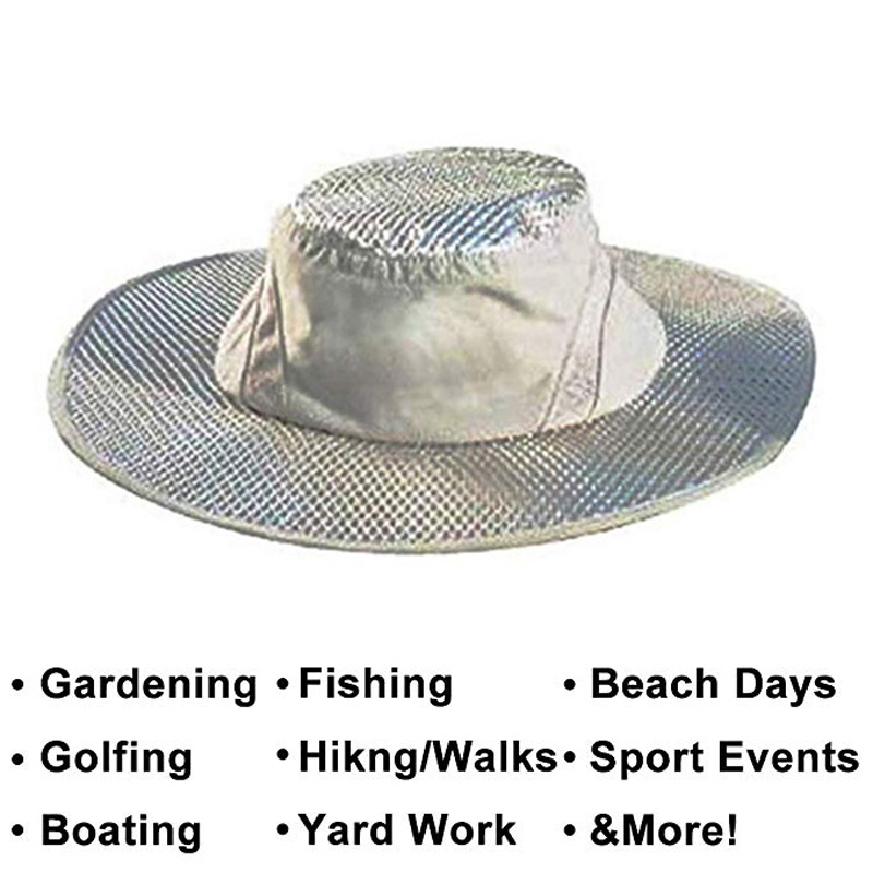 Air Conditioning Cap Cooling Sun Hat Heatstroke Protection Cooling Cap for Men and Women Camping Gardening Hats UV Hat