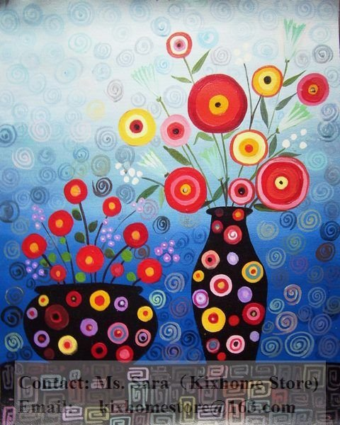 Dream Vases And Flowers Wholesale 100 Hand Painted Museum Quality Abstract Florals Oil