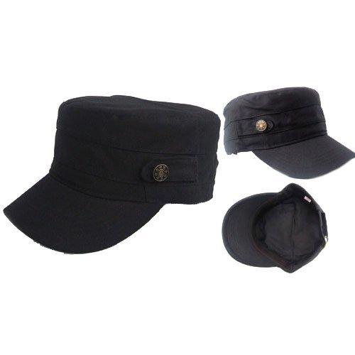Adjustable VINTAGE ARMY Military Cadet Style Cap Men Ladies Hat Black Brown  Green Grey Beige 99b262ace1b