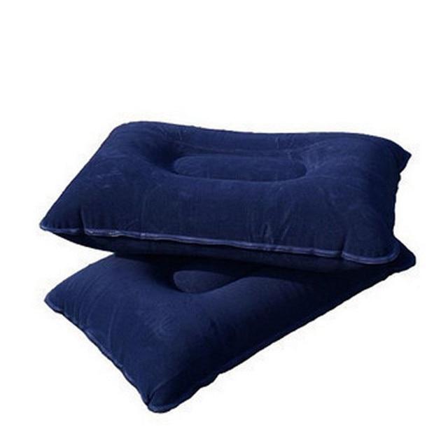 Travel Pillow Neck Cushion Folding Camping Mat Outdoor Travel Pillow Inflatable  Flocking Air Pillow Inflatable