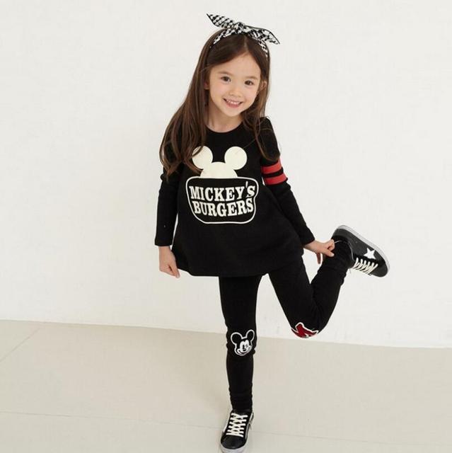Bebé Niñas Ropa conjuntos de dibujos animados Minnie Casual Tracksuits niños  ropa Corea del Sur moda 97555838e8b75