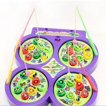 Radom rotating go magnet educational fish kid electric magnetic child game