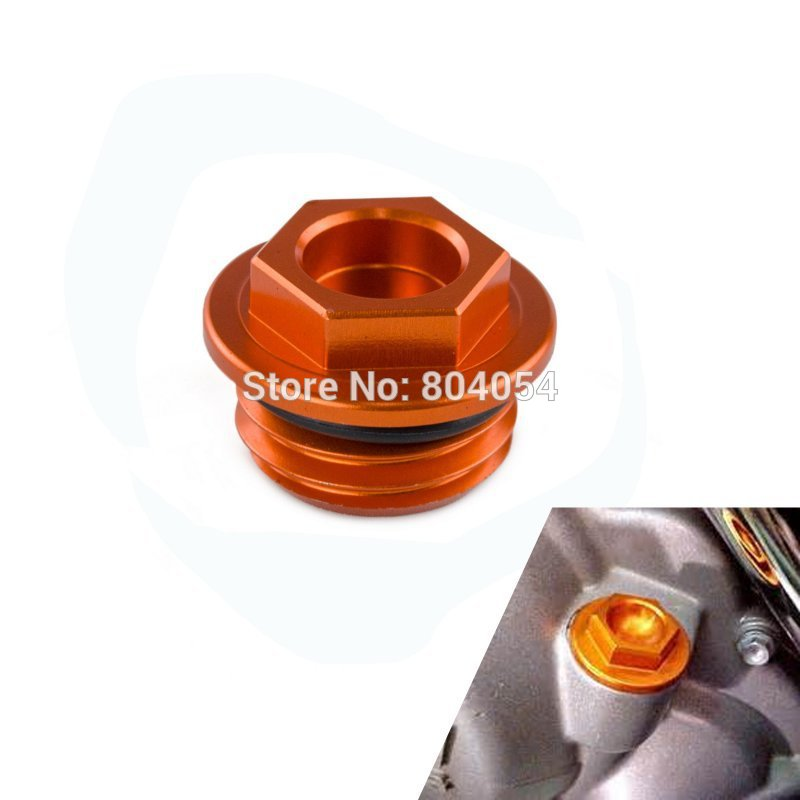 CNC Billet Oil Filler Cap Oil Plug Fits For KTM SX SMR EXC SX-F EXC-F XC XC-F 125 200 250 300 350 400 450 500 525 530 2009-2018 orange cnc billet factory oil filter cover for ktm sx exc xc f xcf w 250 400 450 520 525 540 950 990