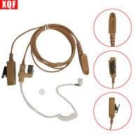 XQF Bege Flesh Cor Tubo Acústico Covert Fone Headset Mic para Motorola GP344 GP388 GP688 GP328Plus Rádio Em Dois Sentidos