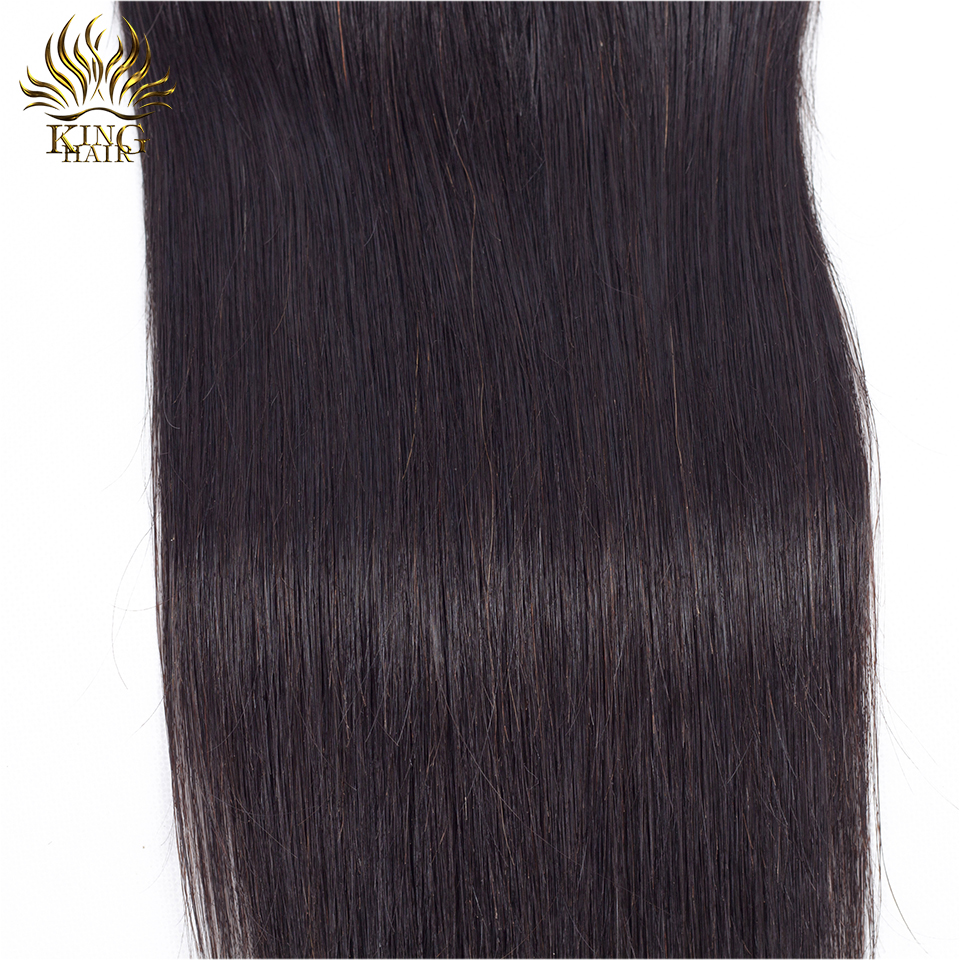 Cheveux russes Brésiliens Fermeture en dentelle droite Fermeture de - Cheveux humains (noir) - Photo 5