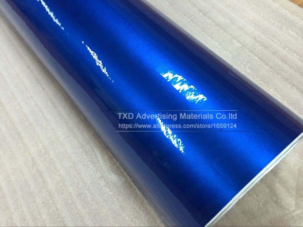 Высокое качество 10/20 Вт, 30 Вт/40/50/60X152 см/Lot синий блестящий металлический блеск автомобиля Стикеры для автомобиля обертывания глянцевые конфеты виниловой пленки углеродное волокно