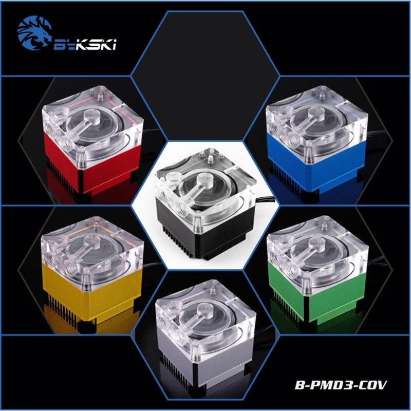 Bykski B-PMD3-COV Adjustable Speed DDC pump head 6 meters flow 600L / H Water Cooling цены