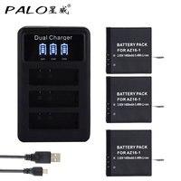 Palo 3pcs 1400mah Original For Xiao Mi YI Lite YI 2 4Kplus AZ16 1 Battery LCD