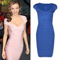 Mirander Ker Sexy Women Bandage Dress Short Sleeve Zipper on Back Pink Black Roy Blue dress For Party Prom Drop Shipping HL1315