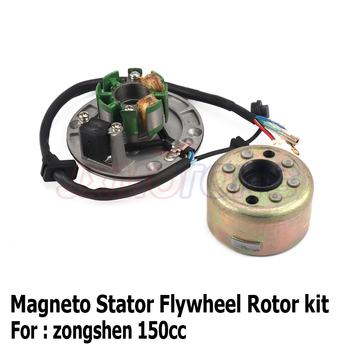 Magneto Stator Flywheel Rotor motor kit For Original Zongshen ZS150 155z 160cc Engine Dirt Pit Bike Monkey Bike parts