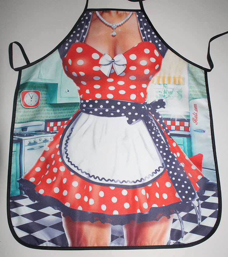 1PC Christmas <font><b>Apron</b></font> <font><b>Sexy</b></font> Santa Funny <font><b>Apron</b></font> Christmas Chothes Party Dressing Cleaning Cooking <font><b>Kitchen</b></font> Accessories New Year NF 012 image