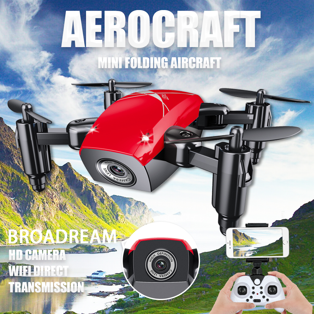 Pliable Mini Drone RC Hélicoptères 4CH 4 Axe Gyro Commutable Fixe RC avions véhicule Quadcopter Avec 0.3MP Wifi FPV HD caméra