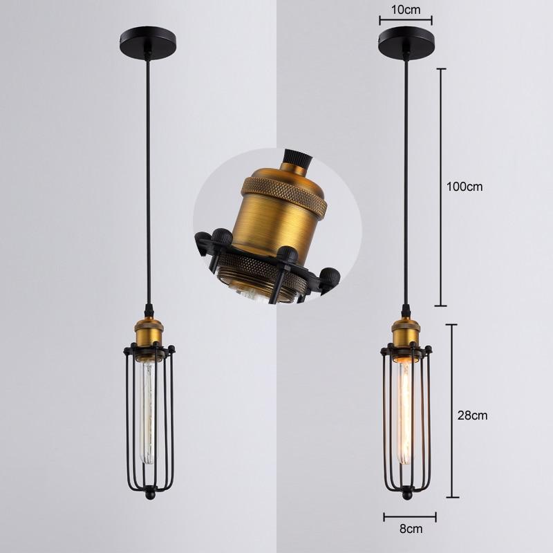 Retro RH industrijske obesne svetilke za skladišče / bar a - Notranja razsvetljava - Fotografija 2