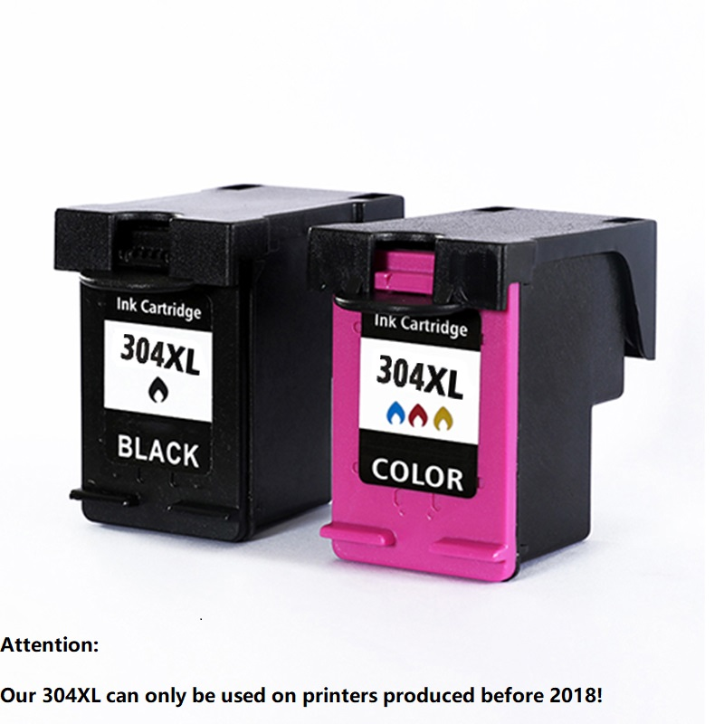 Xiangyu 304XL Ink Cartridge Replacement for HP 304 XL N9K08AE N9K07AE Compatible for HP Deskjet 3700 3720 3730 3732