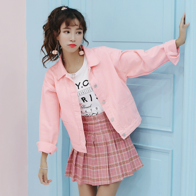 Jackets & Coats Basic Jackets Aspiring Women Spring And Autumn Korean Edition Bf Loose Style Short Ins Jeans Coat Girls Denim Jacket Ladies Tops