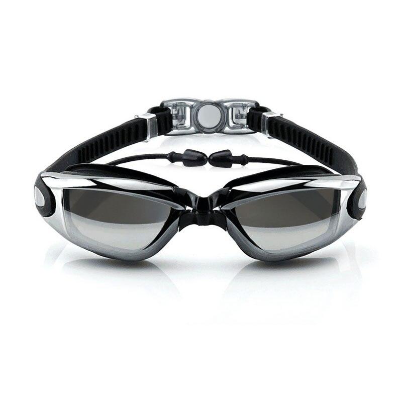 Homens Mulheres Prescrição miopia Óculos de Natação Tampão Profissional Adult Swim Eyewear Óptico Óculos de Mergulho À Prova D' Água