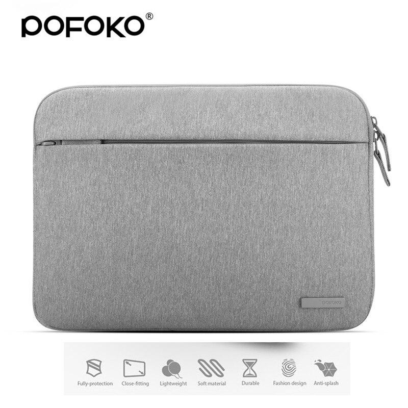 POFOKO 11.6 13.3 15.4 inch Men Women Laptop Sleeve Bag for Macbook Air Pro Retina