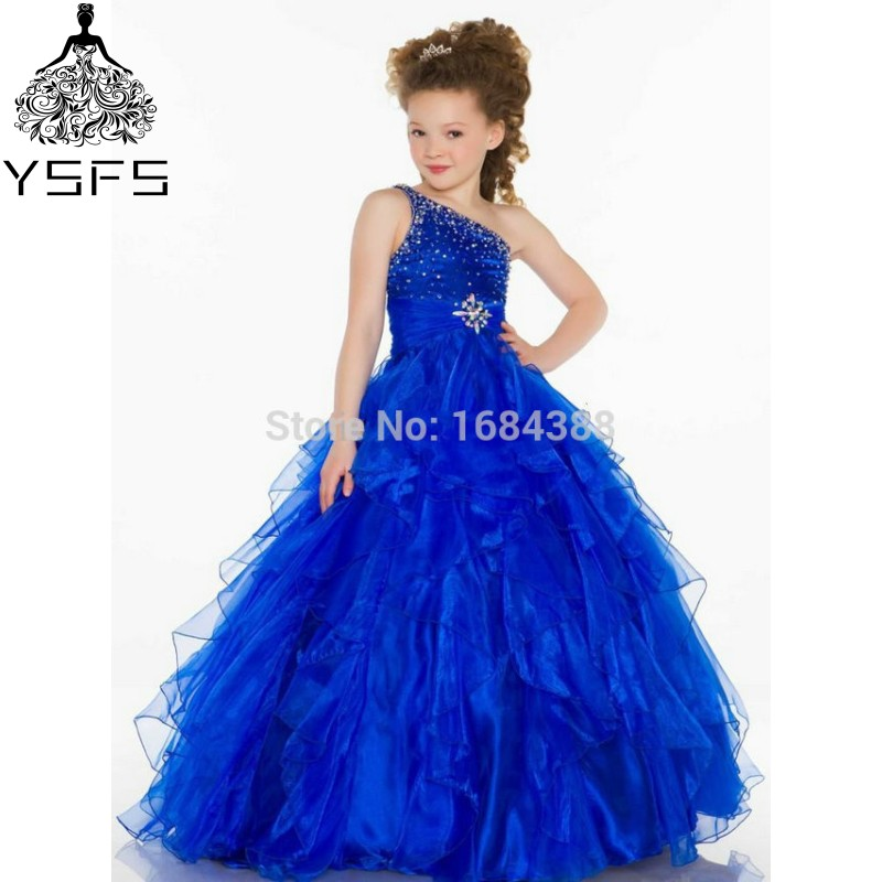 Amazing Royal Blue Ball Gown Halter Organza Tiered Crystal ... - photo#24