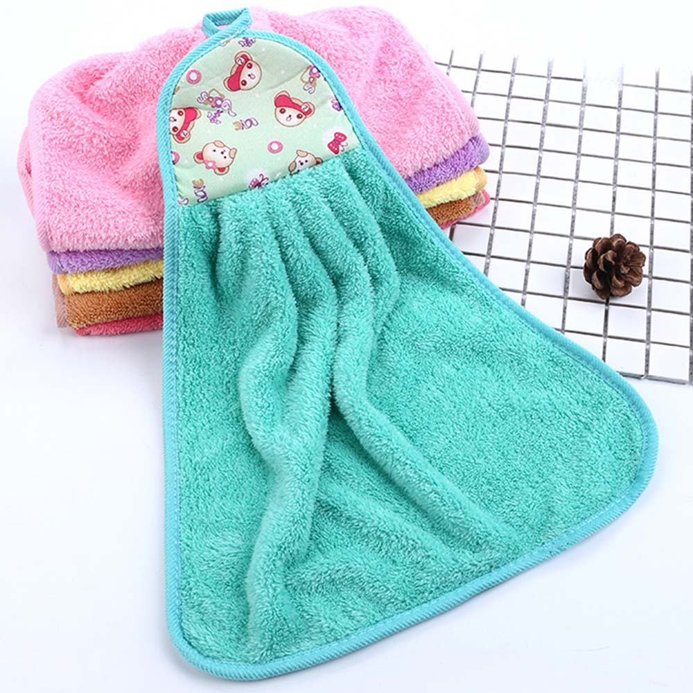 Hand Tower Cartoon Bear Towel Hand Dry Towel Clearing Colorful Animal Towel For Kitchen Bathroom Office Car Use