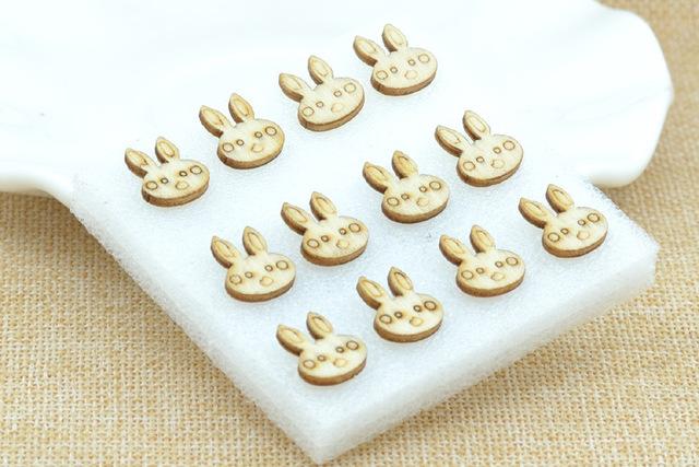Buy 6 Pair (12 pcs) lovely Wood Rabbit Earrings