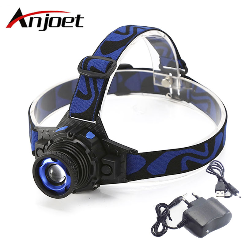 Powerful LED Headlamp Headlight frontal head lamp Hunting Camping 18650 Battery