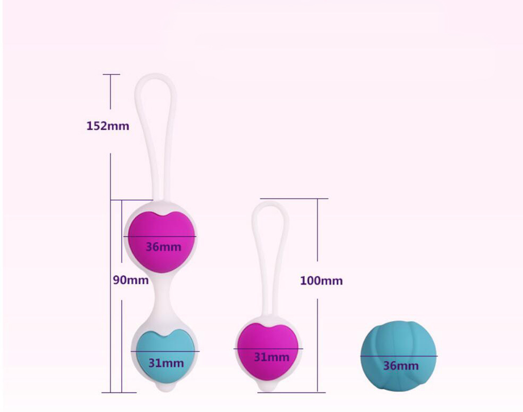 3pcs/Lot Kegel Ball  exercise Vaginal Trainer Love Ben Wa Pussy Muscle Training adult Toys for couples Female products metal kegel ball exercise product vaginal tightening trainer love ben wa pussy muscle training adult toys for couples