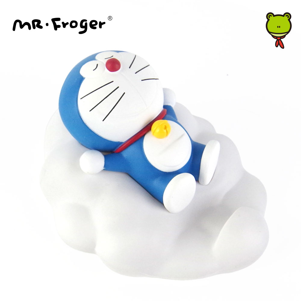 Mr.Froger Cartoon Cat Japanese Anime Action Figures PVC Cloud Mobile Phone Stand Toys for Children Cute Gift Collection Kawaii cute doraemon figures toys pvc figure doll can use for phone