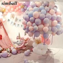 30 Stks/partij Mix Kleur Macaron Ballonnen Bruiloft Verjaardag Party 2.2G Roze Mint Rose Air Helium Latex Bruiloft Decor Balon baby Douche