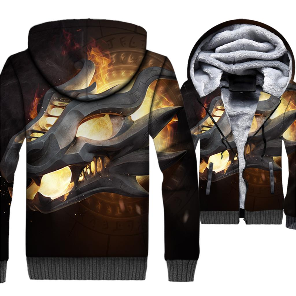 Game Of Thrones Hoodies For Men 2018 Autumn Winter Jackets Fire And Blood 3D Dragon Targaryen Men's Sweatshirts Hoody Tracksuits