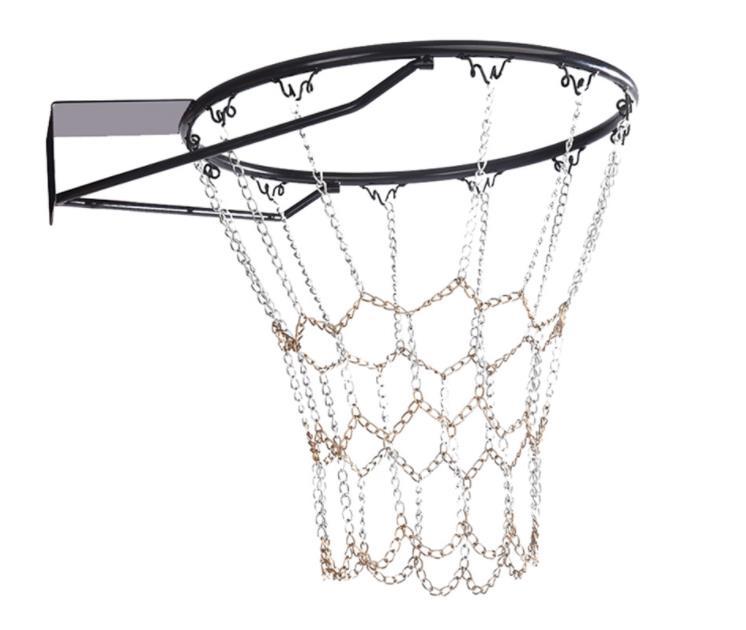 Color Nets Basketball Tennis Bag Sports Heavy Duty Galvanized Steel Chain Basketball Target Net Durable Standard Hoop