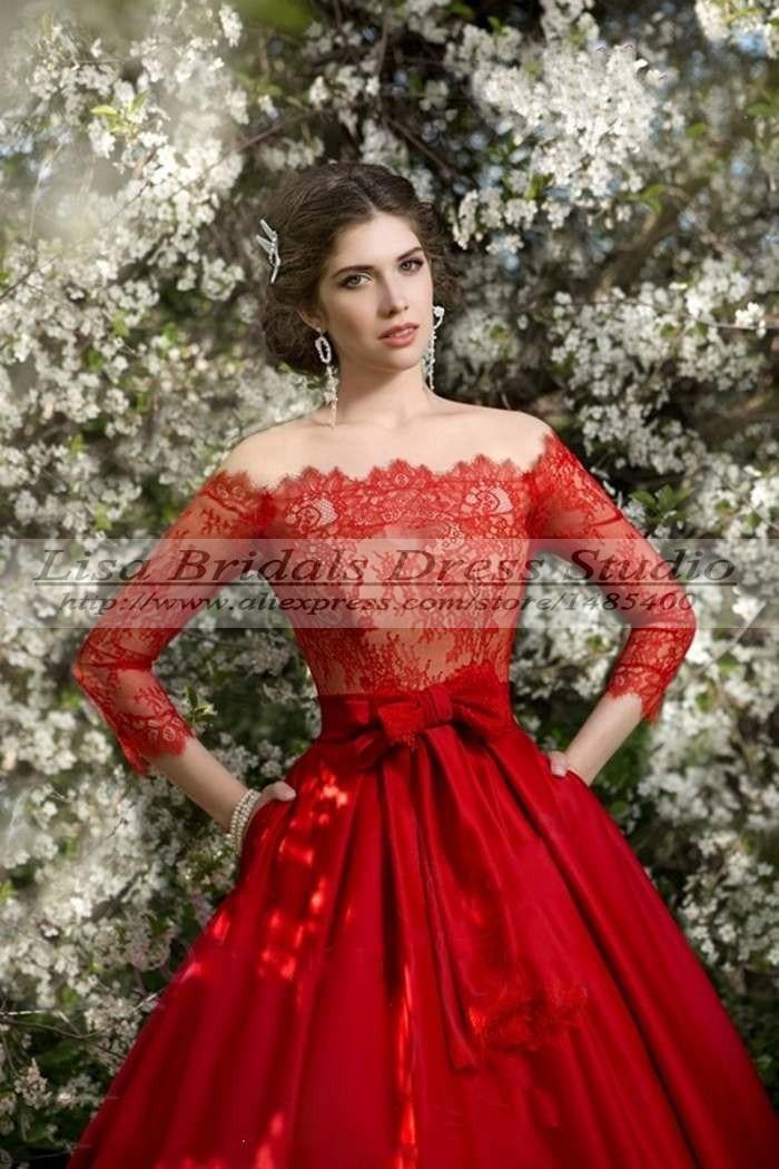 Une robe princesse rouge