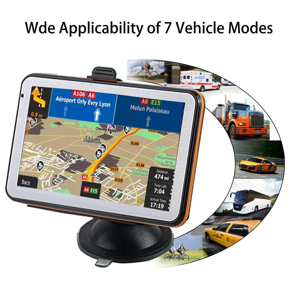 US $36 28 21% OFF|5 inch car GPS navigator FM satellite voice navigation  car GPS navigation car accessories 128BM8G Navitel latest Europe map-in