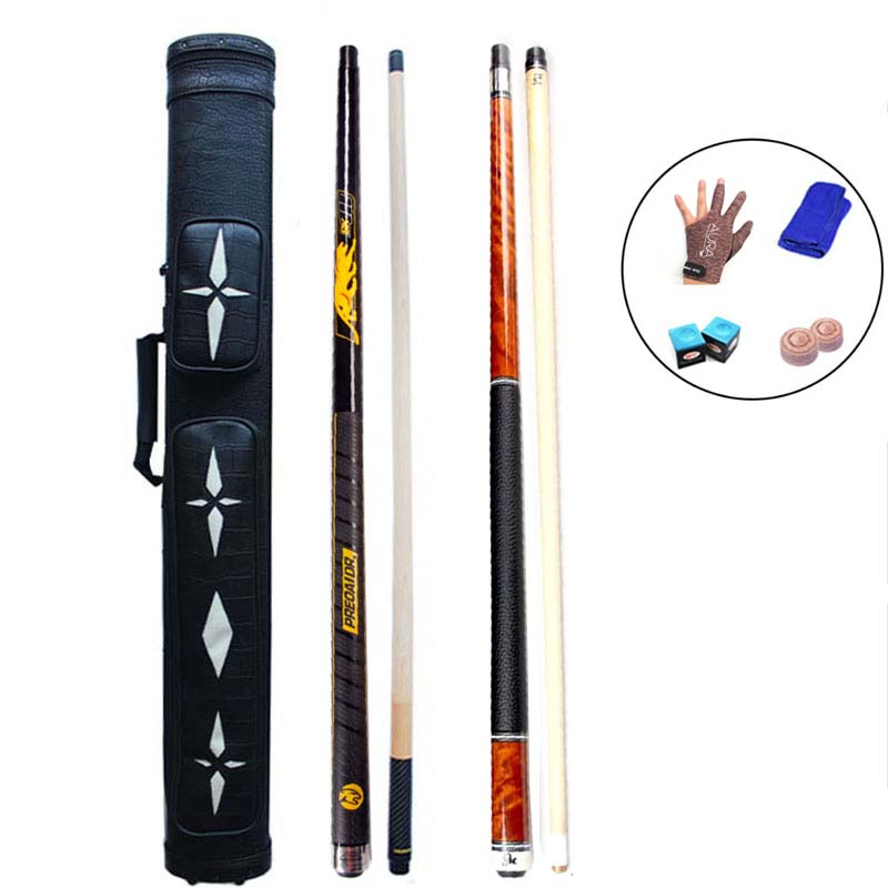 8K4 8 Pieces Wood Laminated Technology Shaft China Billiard Pool Cues 11 5mm 12 75mm Tip