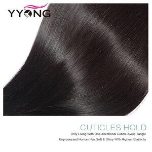 Image 4 - Yyong Hair Peruvian Straight 4x4& 6x6 Closure With Bundles 4pcs Lot 8 30 Inch Remy Straight Human Hair Bundles With Lace Closure