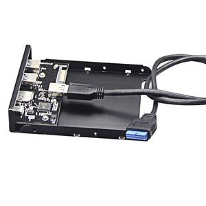 "Image 5 - En Labs USB 3.0 SD/Micro SD/TF 3.5"" Internal Card Reader w/ USB 3.1 Gen 1 Type C + 2 x USB 3.0 Port Hub Front Panel"