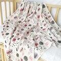 Cobertor do bebê Recém-nascido de musselina camada dupla Blanket & Panos Jogo de Cama