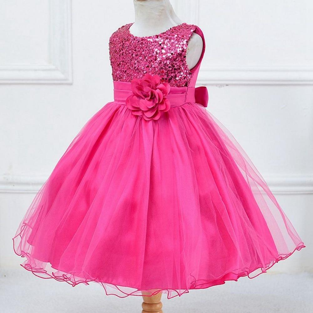 992ad255be Dzieci Dzieci Dziewczyny Niemowląt Niemowlęta Dziewczyny Suknia Balowa  Kwiat Cekiny Księżniczka Vestidos Sukienka Na Wesele Suknie Vestidos S3537  w Dzieci ...