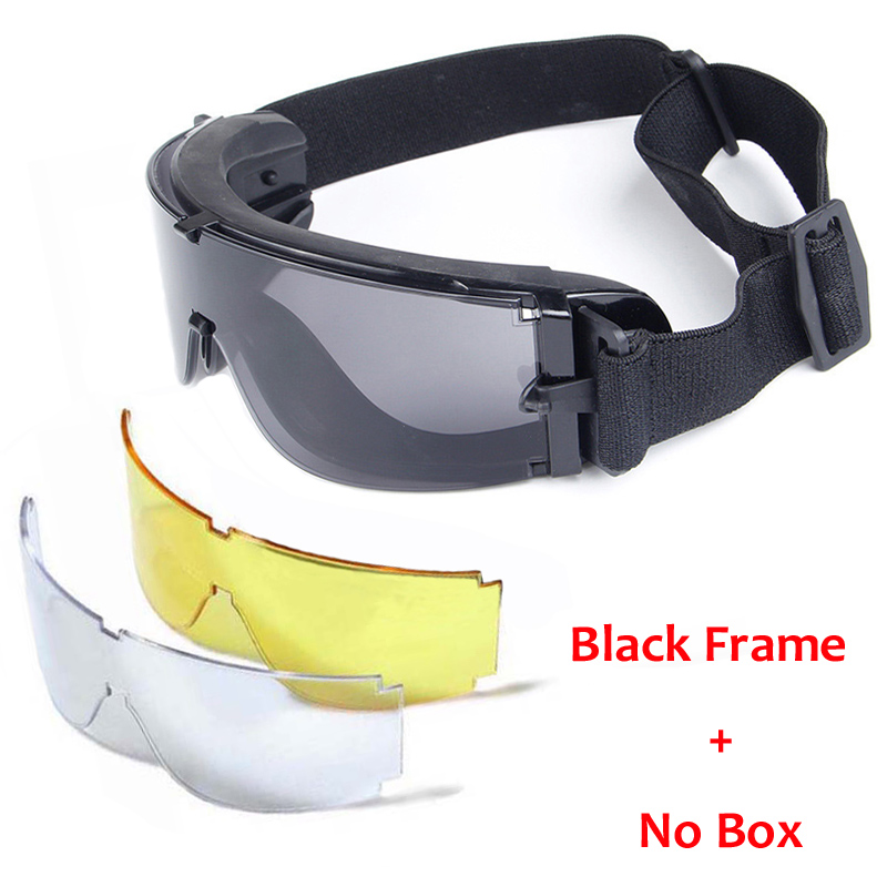 X800 Military Tactical Glasses Army Paintball Airsoft Goggles Shooting Hunting Eyewear Outdoor Cycling Sport Sunglasses 3 Colors