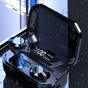 Image 2 - G02 TWS Bluetooth אוזניות 5.0 אלחוטי Bluetooth אוזניות 9D סטריאו מוסיקה אוזניות מגע בקרת LED תצוגת 3300mAh כוח בנק