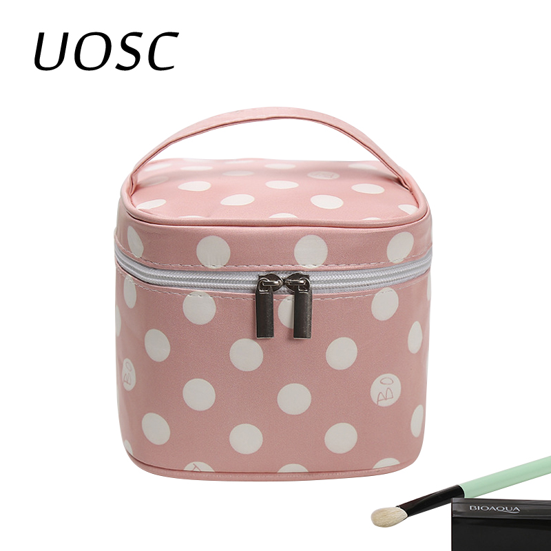 UOSC Cosmetic Bag Women Cosmetic Box Women's Organizer Storage Handbag Female Travel Toiletry Makeup Case Wash Pouch Necessarie