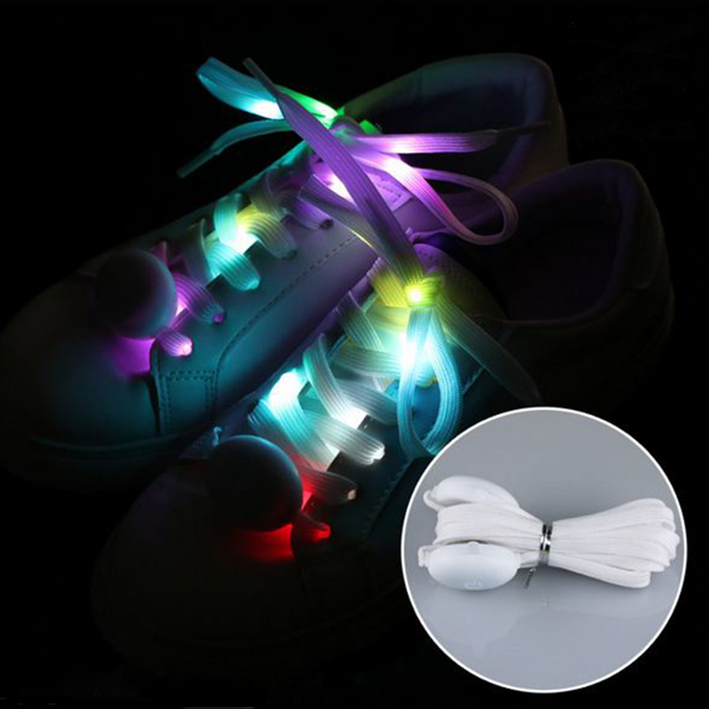 Multicolor Charming Dancing Fabala Running Sports Outdoor Club Light Up Flashing LED Shoelace Cool Party Luminous Shoestrings