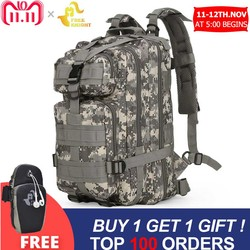Free Knight 3P Military 30L Backpack Army Tactical Backpack Outdoor Bags Trekking Camping Hiking Camouflage Bag Cycling Bike Bag
