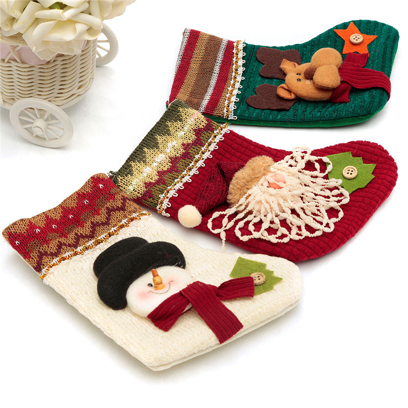 Novelty Cartoon Santa Claus Snowman Elk Christmas Socks Festival Xmas Socks Christmas Tree Ornament Decoration for Best Gift
