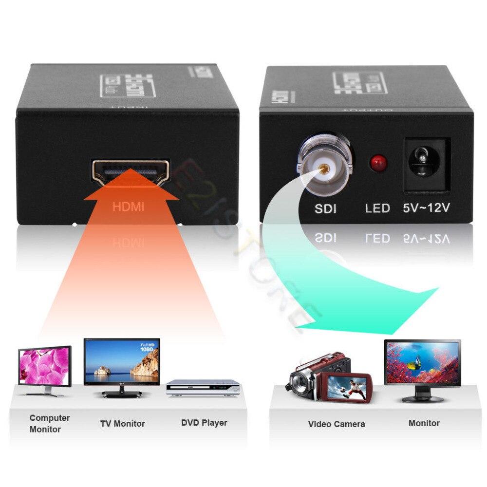 Portable Mini Taille HDMI VERS SDI Convertisseur Adaptateur HDMI À BNC SDI/HD-SDI/3G-SDI 1080 p Multimédia HD vidéo Convertisseur
